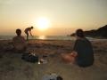 Sonnenuntergang am Strand der Punta Cometa